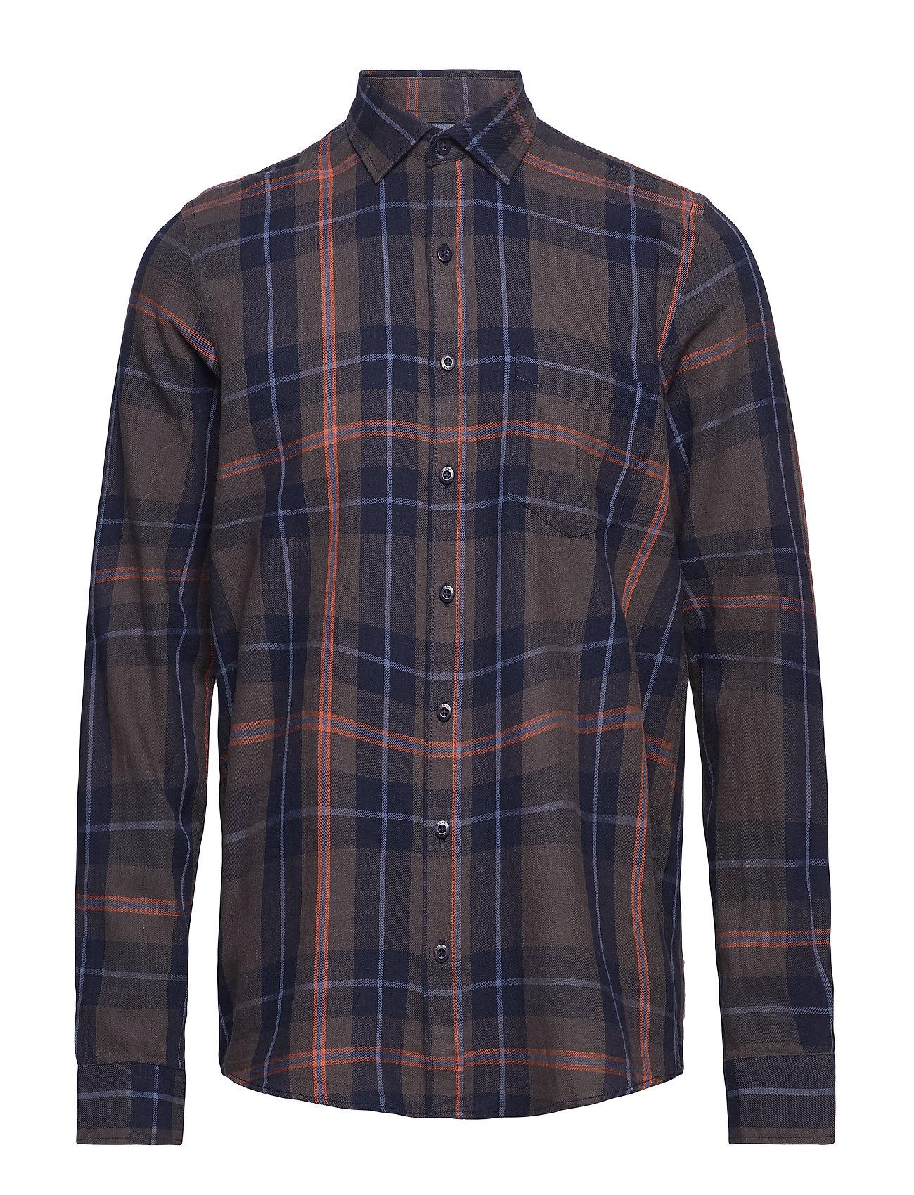 Signal L/S Shirts - BROWN LICORICE