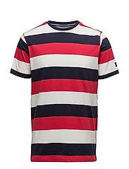 Benn Stripe Box - RED JALEPENO