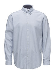 Cohen striped L/S Shirts - LAKE BLUE