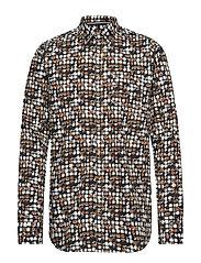 L/S Shirts - CAMEL TABAC