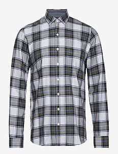 L/S Shirts - checkered shirts - green beetle