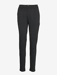 Pants - straight leg trousers - black