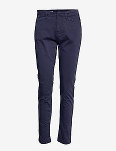 Pants - rette bukser - peacoat