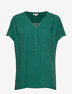 Shirts - short-sleeved blouses - green spruce