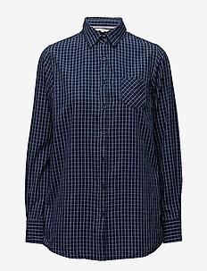 Shirts - langermede skjorter - blue indigo
