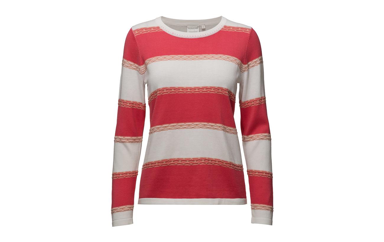 Pullover Light 55 Signature Rouge 45 Red Acrylique knit Coton qZTdwwR