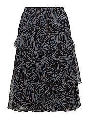 Skirt-light woven - DARK PETROL