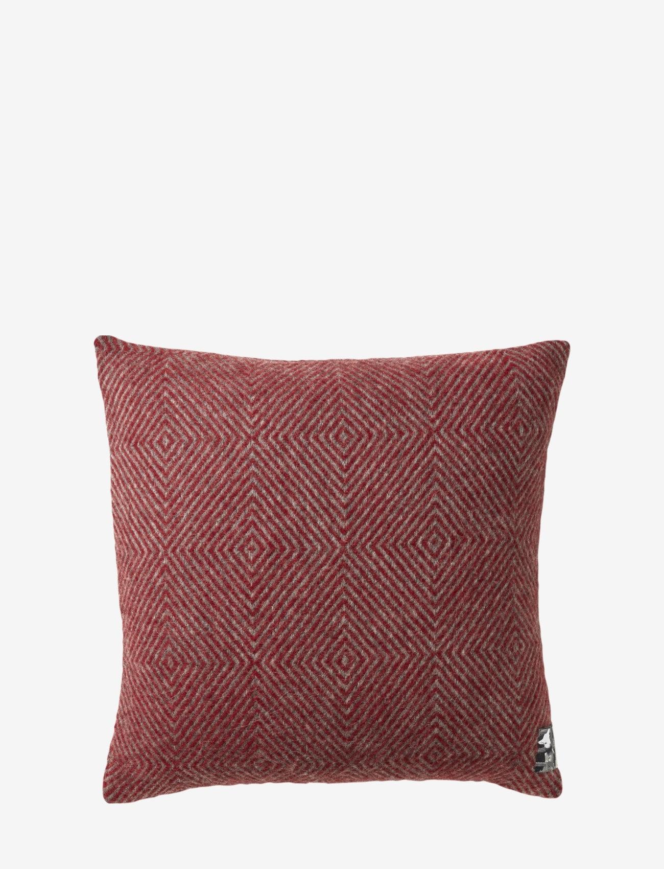 Silkeborg Uldspinderi - Fanø 40x40 cm - kuddar - 0177 granite red - 0