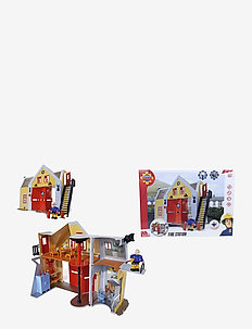 Fireman Sam -  Fire-Station with Figurine - toimintahahmot - red