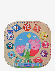 Peppa Pig, Teaching Clock - palapelit ja pelit - pink