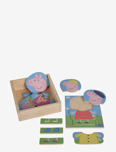 Peppa Pig Dress Up Puzzle - puzzles & games - pink