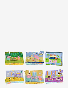 Peppa Pig, Picture Cube - pussel & spel - pink