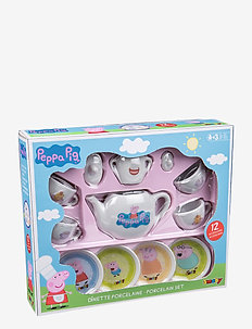Peppa Pig - Porcelain tea set - role play - pink