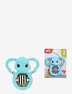 ABC - rattling Mirror-Elephant - baby toys - blue