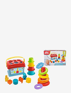 ABC - Baby Playset, Stacking Ring Pyramid - baby toys - yellow