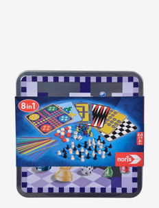 Disney - 8 in 1 Games in Metal Box - palapelit ja pelit - blue