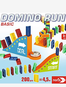 Domino Run Basic - puzzles & games - multi coloured