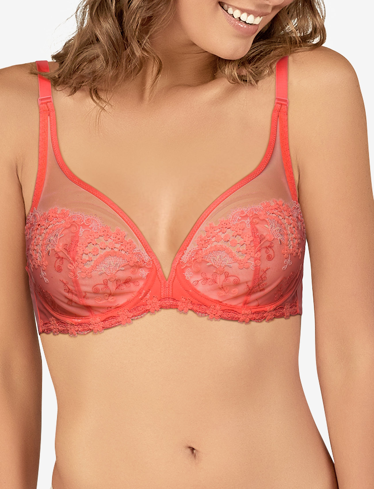 Simone Pérèle - Wish 12B319 - bras with padding - coral - 0