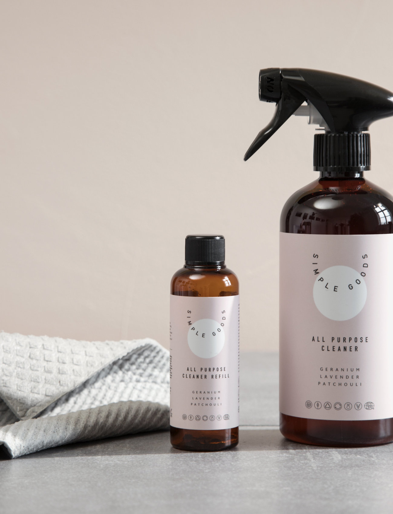 Simple Goods - Refill All Purpose Cleaner, Geranium, Lavender, Patchouli - Övrigt diskning & städning - clear - 1