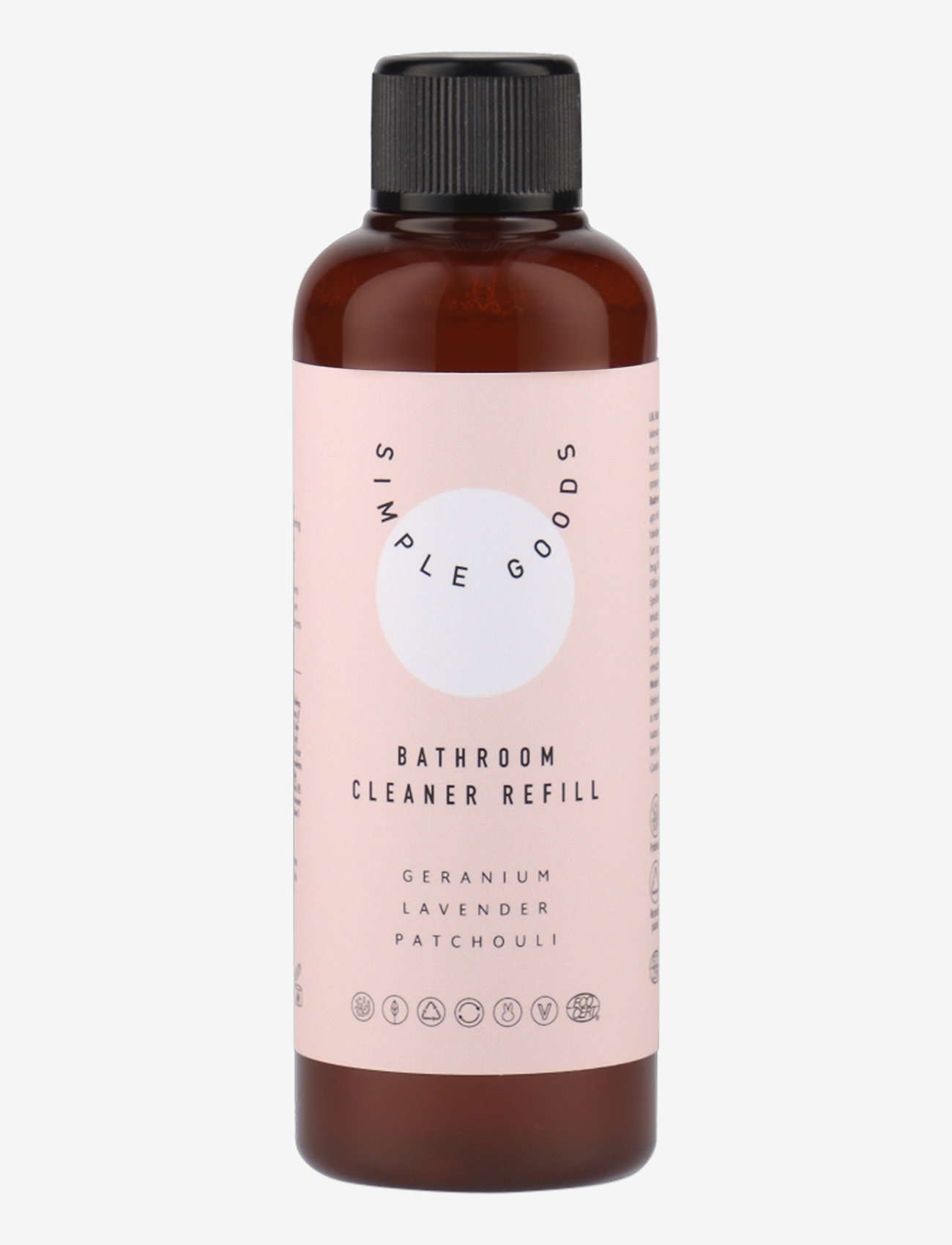 Simple Goods - Refill Bathroom Cleaner, Geranium, Lavender, Patchouli - Övrigt diskning & städning - clear - 0