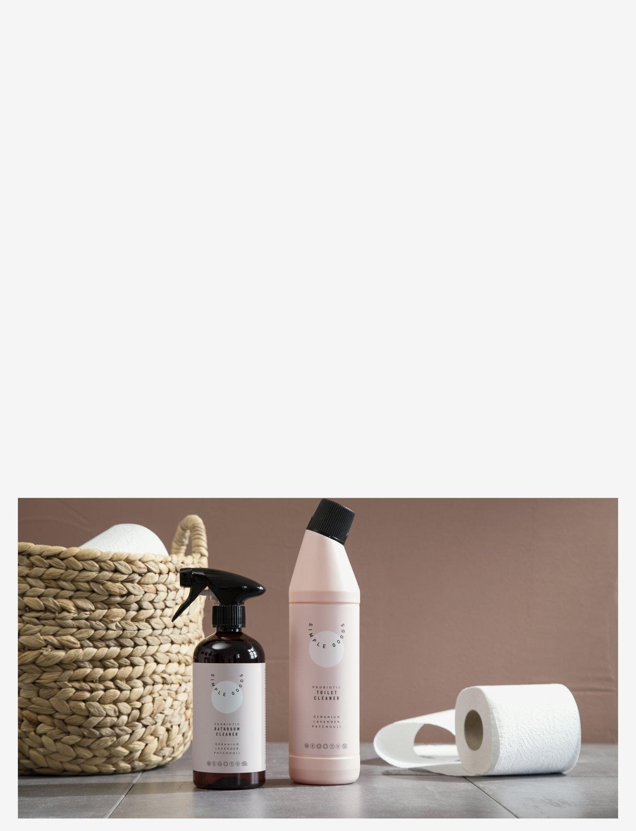 Simple Goods - Bathroom Cleaner, Geranium, Lavender, Patchouli - Övrigt diskning & städning - clear - 1