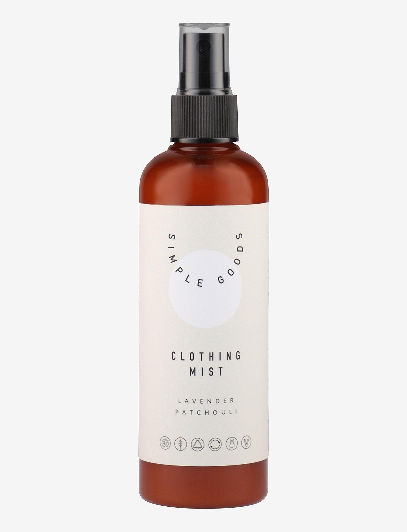 Simple Goods - Clothing Mist, Lavender, Patchouli - Övrigt diskning & städning - beige / brown - 0