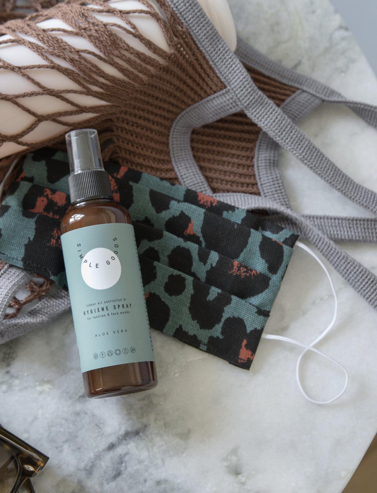 Simple Goods - Textile Hygiene Spray for Facemasks, Aloe Vera - Övrigt diskning & städning - clear - 1