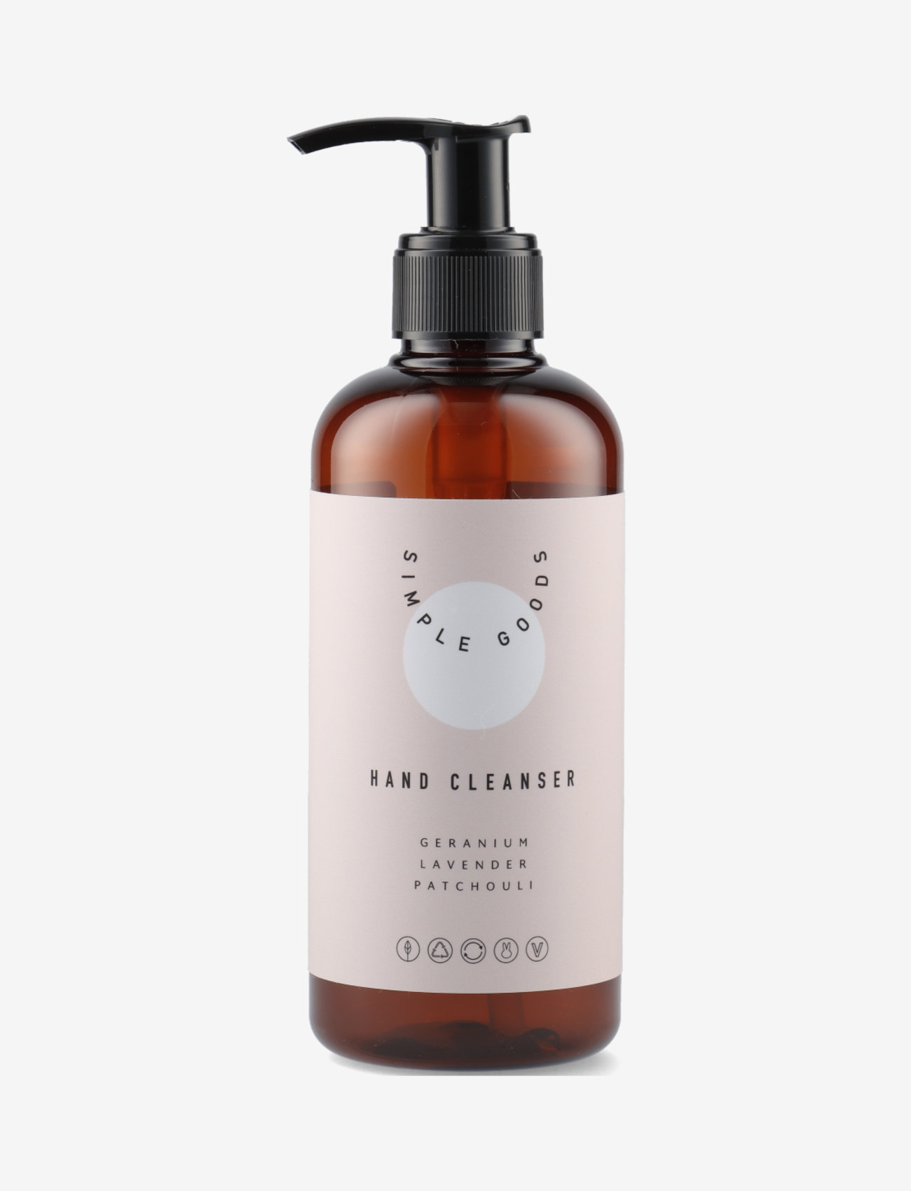 Simple Goods - Hand Cleanser, Geranium, 250 ml - kroppsvård - clear - 0