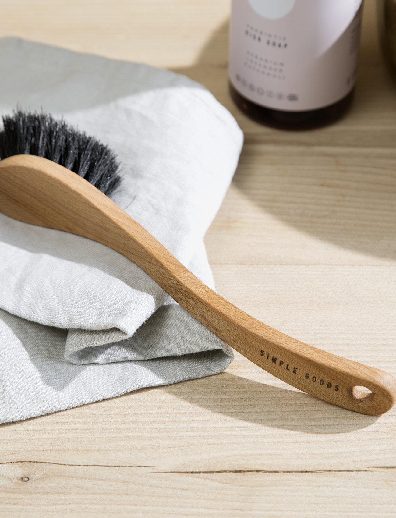 Simple Goods - Dish Brush Soft - disktrasor & diskborstar - wood - 1