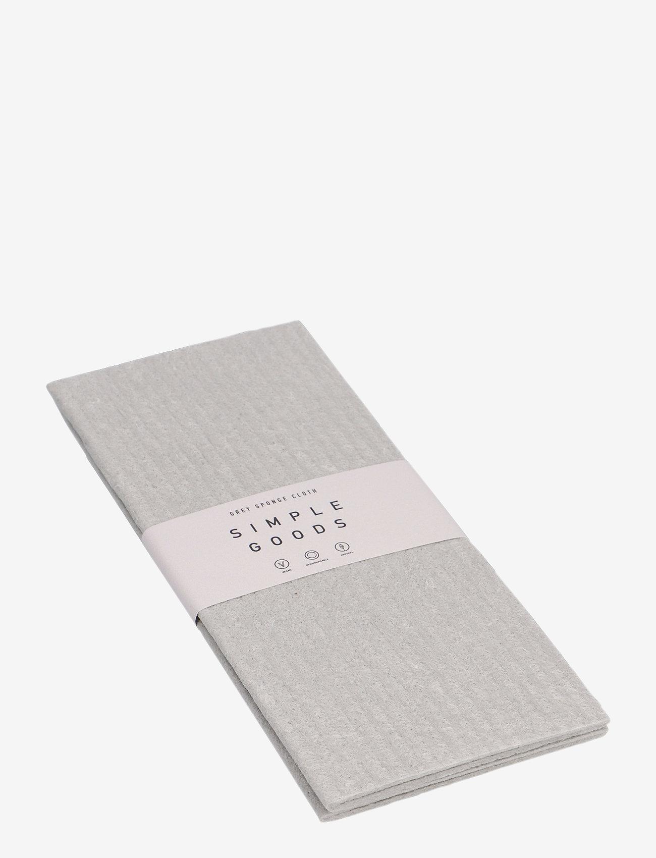 Simple Goods - Sponge Cloth Grey - disktrasor & diskborstar - grey - 0