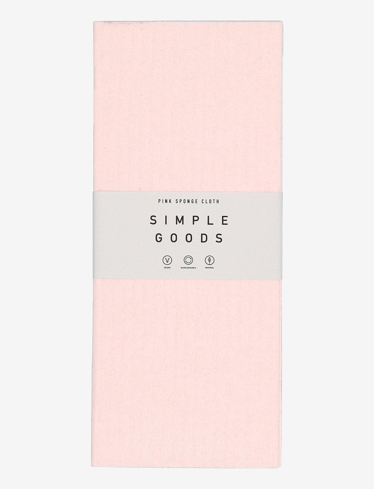 Simple Goods - Sponge Cloth Pink - disktrasor & diskborstar - pink - 0