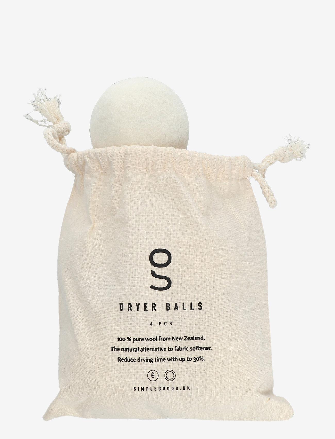 Simple Goods - Dryer Balls 4 pack - klädvård - beige - 1