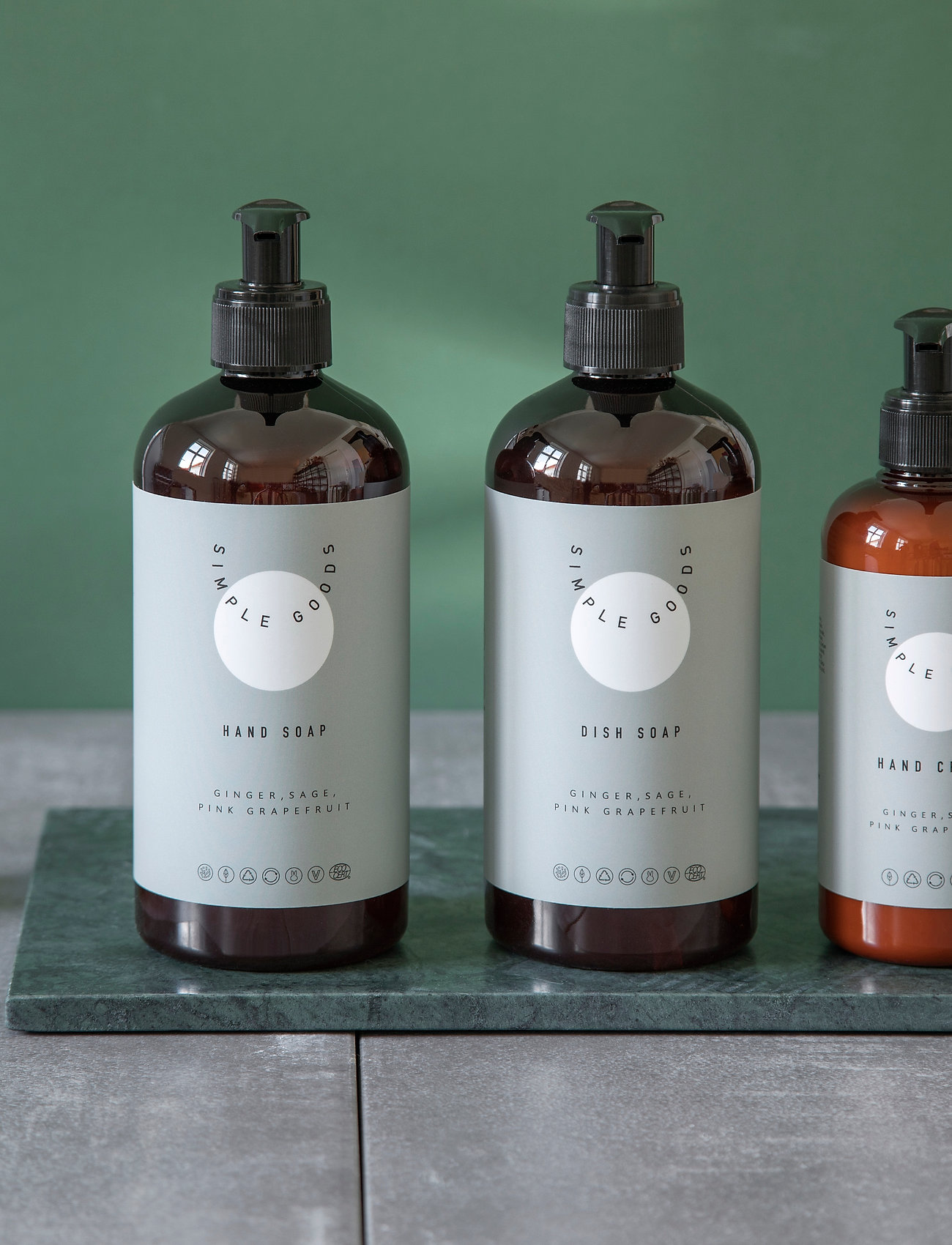 Simple Goods - Hand Cream, Ginger, Sage, Pink Grapefruit, 250 ml - handkräm & fotkräm - clear - 0