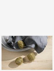 Simple Goods - Brass Scrub, pack of 3 - Övrigt diskning & städning - gold - 2