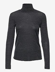 WENDY - turtlenecks - dark grey melange