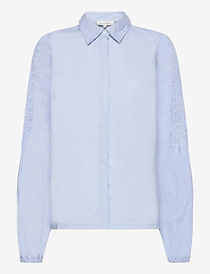 ALBA - blouses met lange mouwen - light blue