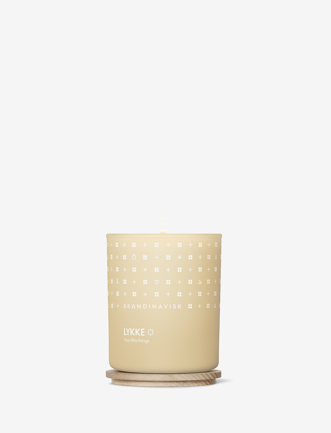 Skandinavisk - LYKKE Scented Candle with Lid 200g - dufte - powder yellow - 1