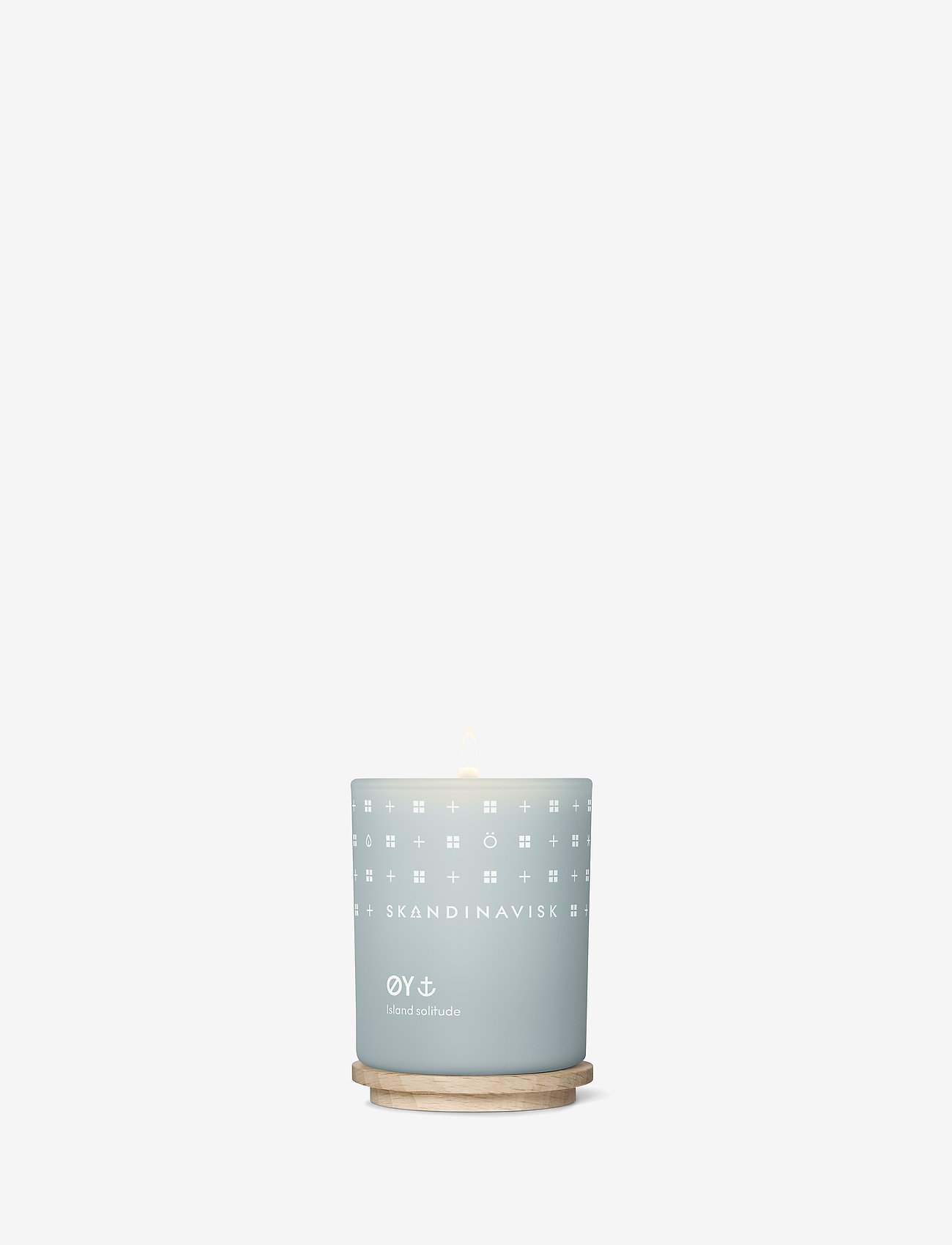 Skandinavisk - ØY Scented Candle with Lid 65g - dufte - powder blue - 1