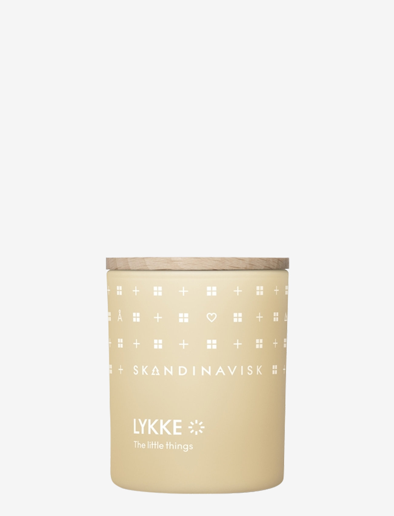Skandinavisk - LYKKE Scented Candle with Lid 65g - dufte - powder yellow - 0