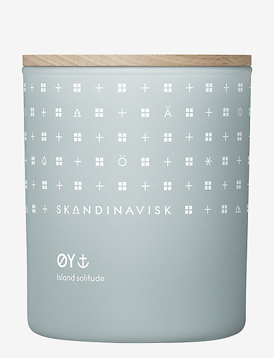 ØY Scented Candle with Lid 200g - huonetuoksut - powder blue