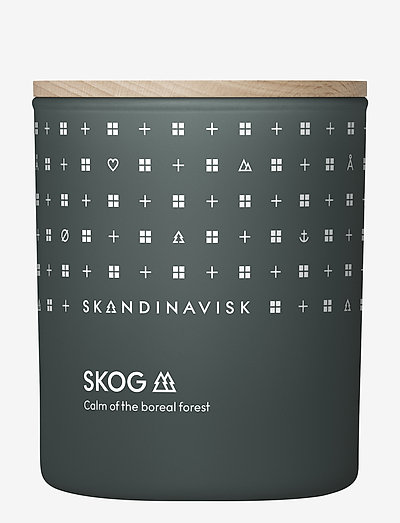 SKOG Scented Candle with Lid 200g - huonetuoksut - forest green