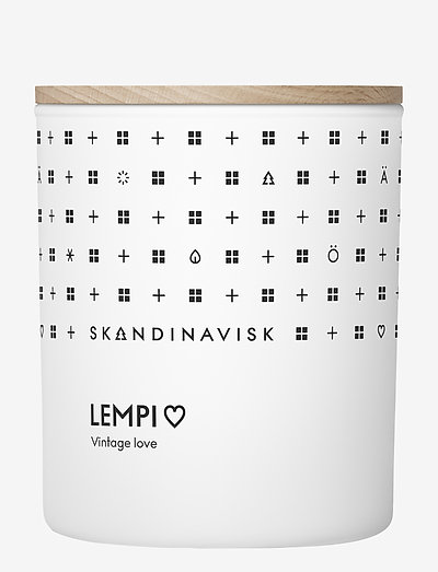 LEMPI Scented Candle with Lid 200g - huonetuoksut - white