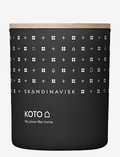 KOTO Scented Candle with Lid 200g - duft - black