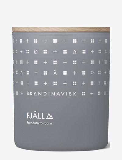 FJÅLL Scented Candle with lid 200g - doftljus - dark grey