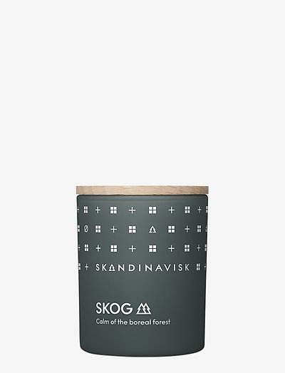 SKOG Scented Candle with Lid 65g - huonetuoksut - forest green