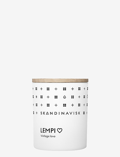 LEMPI Scented Candle with Lid 65g - huonetuoksut - white