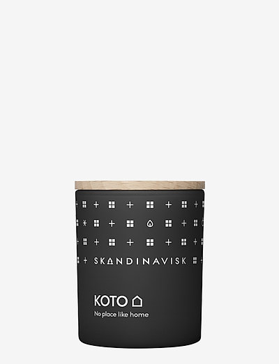 KOTO Scented Candle with Lid 65g - huonetuoksut - black