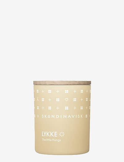 LYKKE Scented Candle with Lid 65g - duft - powder yellow