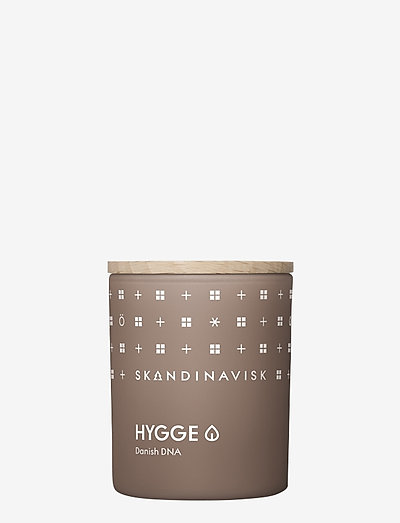 HYGGE Scented Candle with Lid 65g - dufte - camel brown