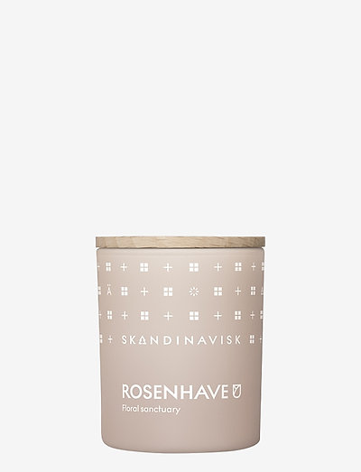 ROSENHAVE Scented Candle with Lid 65g - huonetuoksut - powder pink